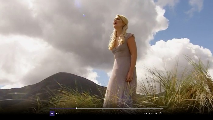 Amazing Grace by Celtic Woman on BBC1 'Songs of Praise'.