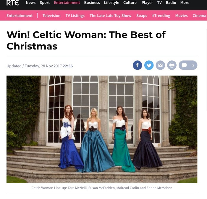 RTÉ Competition for Celtic Woman's 'Best of Christmas'