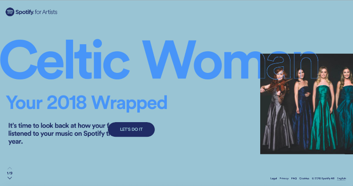 Celtic Woman's Amazing Spotify Year !
