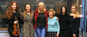 Celtic Woman sing Ancient Land tracks live on Irish radio.